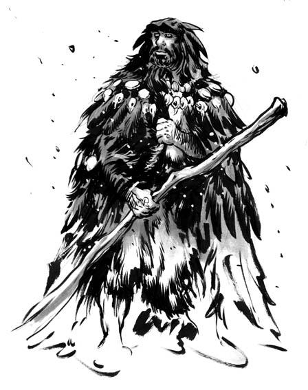 corbeau, un chaman de tribu